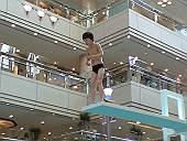 飛び込み台の少年(みなとみらいにあったオブジェ)