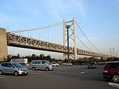 夕日に染まる瀬戸大橋