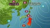 今日の気象図 by 報道ステーション