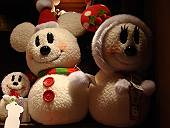 雪だるまのミッキー&ミニー