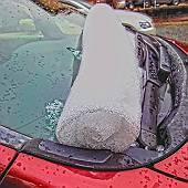 オデッセイにできた雪俵