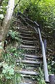 ハシゴのような急階段